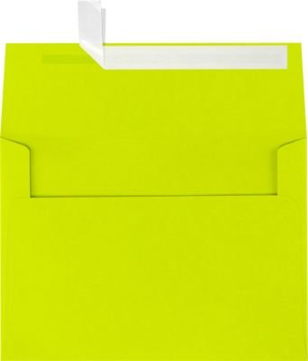 A7 Invitation Envelopes w/Peel & Press (5 1/4 x 7 1/4) - Wasabi Green (50 Qty) | Perfect for Invitations, Announcements, Sending Cards, 5x7 Photos | Printable | 80lb Paper | FE4280-22-50 (Wasabi Green)