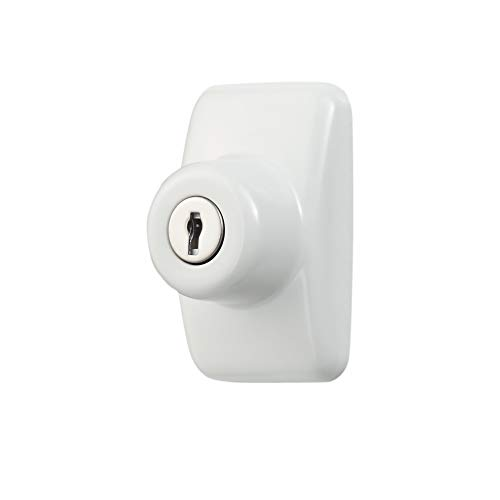 Ideal Security Inc. SKGLKW GL Keyed Deadbolt for Storm and Screen Doors Easy to Install, White