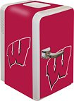 NCAA Wisconsin Badgers Portable Party Fridge, 15 Quarts