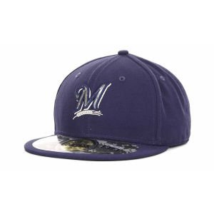 Mlb 59fifty Stars - MLB Milwaukee Brewers Stars And Stripes 59Fifty, Navy, 7