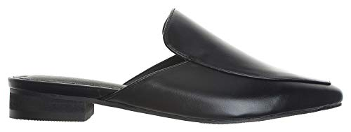 Womens Point Black Mule Toe AnnaKastle Loafer Slipper Chic Backless Z1Uqd