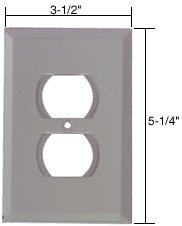 (CRL Duplex Plug Glass Mirror Plate - Gray)