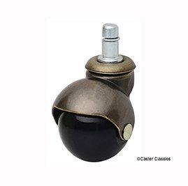 Caster Classics Antique Brass Ball Chair Caster 5-Pack