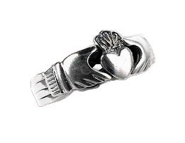 Sterling Silver Celtic Claddagh Puzzle Band Ring Size 8(Sizes 6,7,8,9,10,11,12) (Claddagh Puzzle Ring)