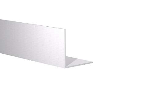 Orange Aluminum - 90 Degree Angled Extrusion - Heavy Duty Metal L Shape Corner Angle Bar - Extruded Edging Trim Bracket - 2