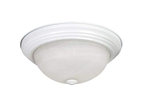 Yоsеmitе Hоmе Dеcоr Home Decor JK102-13WH Flushmount Series 13-Inch Incandescent, White, 11 Piece