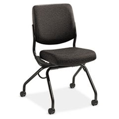 HON PN1AUUBW19T Perpetual 4300 Series Mobile Folding Nesting Chair, Iron Upholstery
