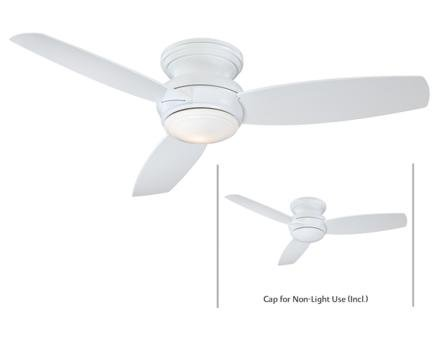 Minka Aire F594-WH Traditional Concept 52 inch Indoor/Outdoor Ceiling Fan, (Minka Aire Wall Mount)