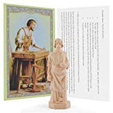 Saint Joseph Statue Home Seller House Selling Kit with Instrutions and Prayer Card (St Joseph Prayer To Sell My House)