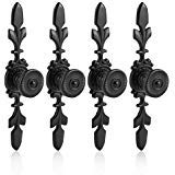 - Fdit Pack of 4 Vintage Style Pull Handle Door Knob Back Plate for Home Furniture Drawer Cabinet Dresser Closet Wardrobe Cupboard with Screw(Black)