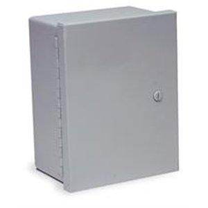 Wiegmann N1C121408 N1C-Series NEMA 1 Small Hinged Cover Wallmount Cabinet, Steel, 14'' x 12'' x 8''