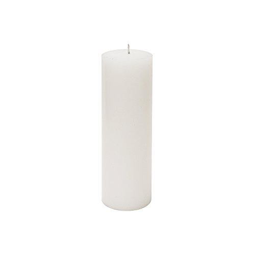 Mega Candles Unscented White Round Pillar Candle | Hand Poured Premium Wax Candles 2