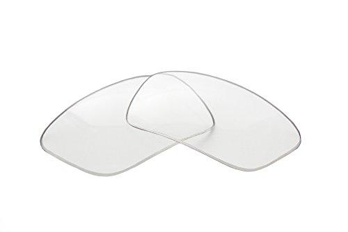 SFx Replacement Sunglass Lenses fits Oakley Split Thump 62mm wide (Polycarbonate Clear Hardcoat ()