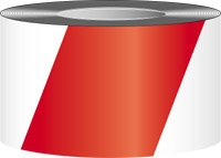 "Accuform Striped Marking Tape, 3"" x 54-ft. - RED/WHITE ST..."