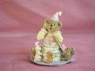 - Boyds Bears Resin Bailey The Birthday Girl Cake Bearstone Musical 2E - Resin 3.00 IN