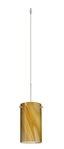 - Besa Lighting XP-4404HN-SN 1X50W Gy6.35 Stilo 7 Pendant with Honey Glass, Satin Nickel Finish