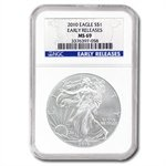 2010 Silver American Eagle (NGC MS-69) Early Release Blue Label
