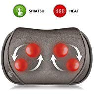 Snailax Shiatsu Massage Pillow with Heat -Deep Kneading Neck Shoulder Lumbar Calf Leg Foot Back Massager, Plush Cozy Design,Portable Electric Massager for Full Body Muscle Pain Relief