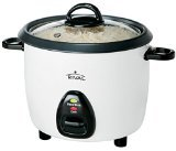 Rival RC101 5-Cup uncooked resulting in 10-Cup cooked Rice Cooker with Steaming Basket, White/Black
