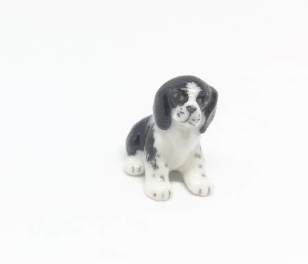 Studio one Handmade Animal Figurine Puppy Dog Porcelain Ceramic Pet Animal Figurine ()