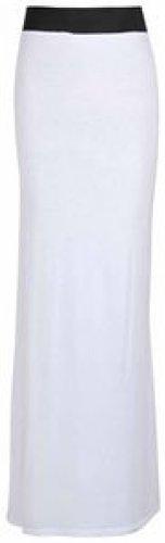 jupes stretch jersey jupes white plaine en longues dress maxi IHqxfwPpI