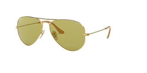 Ray-Ban RB3025 AVIATOREVOLVE 90644C 58M Gold/Photo Green Sunglasses For Men For Women (Ray-ban Gummi Schwarz)