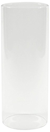 WGV Clear Glass Hurricane Candle Holder Vase, 10-Inch