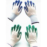 7 Pairs Pack, Gardening Gloves, Work Gloves , Comfort Flex Coated, Breathable Nylon Shell, Nitrile Coating, Medium Size