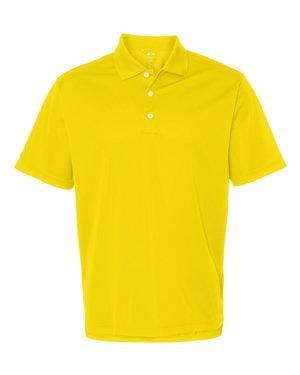 adidas Golf Mens Climalite Basic Short-Sleeve Polo (A130) -Yellow -L