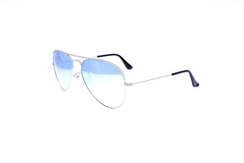Ray-Ban Original Aviator Sunglasses (RB3025) Silver Matte/Silver Metal - Polarized - 58mm