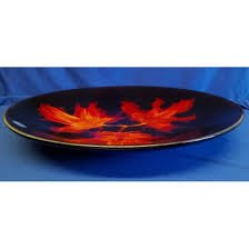 Poole Pottery Forest Flame Dish
