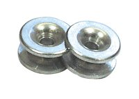 GARDEN OAK - Occhiello per tagliabordi in alluminio, confezione da 2.