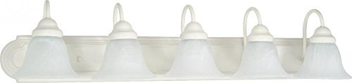 Nuvo Lighting 60/335 Five Light Vanity - White Glass 5 Light