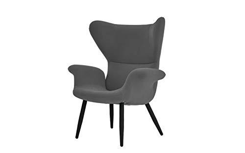 Monowi Contemporary Modern Futuristic Velvet Accent Armchair, Living Room Chair, Grey | Model CCNTCHR - 108