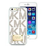 Genuine MK iPhone 6 Case,Michael Kors 100 White Iphone 6 4.7 Inches Screen TPU Phone Case Luxury and Modern Design