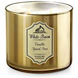 White Barn 3 Wick Candle Vanilla Spiced - Spiced Candle Pear