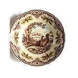 The Victorian English Pottery Thanksgiving Pheasant Serving Bowl (English Pottery)