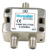 UPC 610370581735, Skywalker 2-way Splitter for Off-air and Satellite signals (SKY23302D)