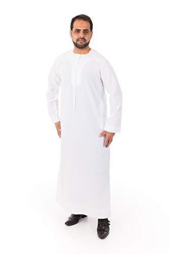 Omani Thoub Men Saudi Style Thobe Thoub Abaya Robe for sale  Delivered anywhere in USA