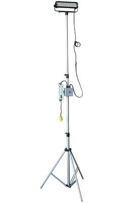 12 -Spot-Intl Schuko-Single Switch Extends 3.5 to 10-60 Watts Adjustable U-Bracket Single Head LED Telescoping Light Tower