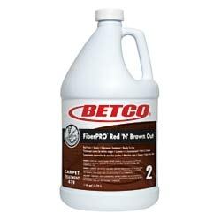 Betco FiberPRO Red 'N' Brown Out Carpet Treatment, 1 Gallon, Case of 4 by Betco