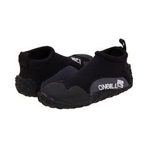 O'Neill Wetsuits Youth Reactor Reef Boot ,Black/Coal, Large