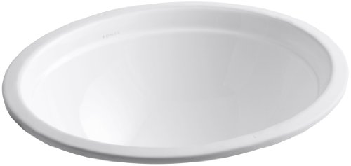 Kohler 2319-0 Vitreous china undermount oval Bathroom Sink, 20.75 x 17.38 x 9.75 inches, White