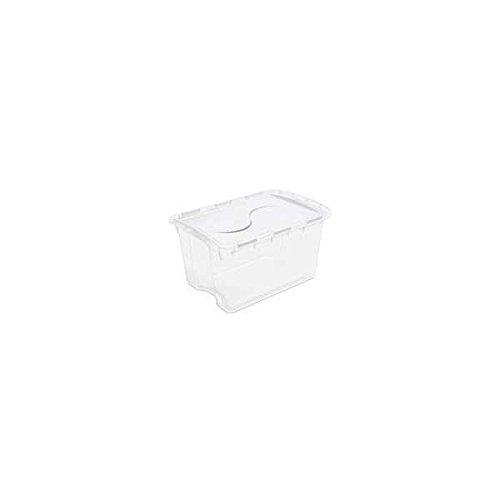 8 Quart Clear Hinged Lid Storage Box ()