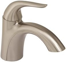 Gerber Plumbing G0040029BN Viper Lavatory Faucet with Metal Touch Down Drain, Single Hole Mount, One Handle, 1.2 GPM, Brushed Nickel, 6.125