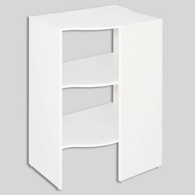 ClosetMaid Selectives 20 in. x 41.5 in. x 29 in. 3-Shelf White Stackable Corner Organizer by ClosetMaid