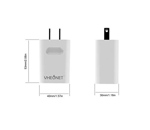VHEONET USB C Charger 18W PD3.0 Type C Mini Wall Charger Power Delivery for iPhone 11 Pro Max Xs Max XR X 8 Plus, AirPods Pro, iPad Pro,Samsung Galaxy S10+S9+,Google Pixel 3a XL(USB A Included)