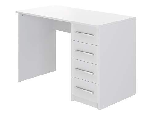 Marca Amazon -Movian Idro Modern - Escritorio con 4 cajones, 56 x 110 x 73 cm (blanco)