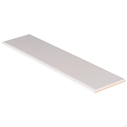 Domino White Glossy 4X16 Single BullNose,40 -