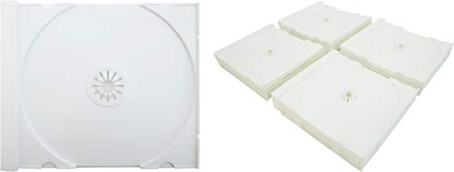 25 Solid White Colored Replacement CD Trays / Inserts for CD Jewel Boxes! #CDIR80SW- Fits any standard size 10mm Jewel Box!